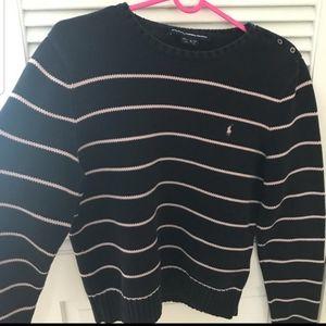 Ralph Lauren blue and pink striped sweater
